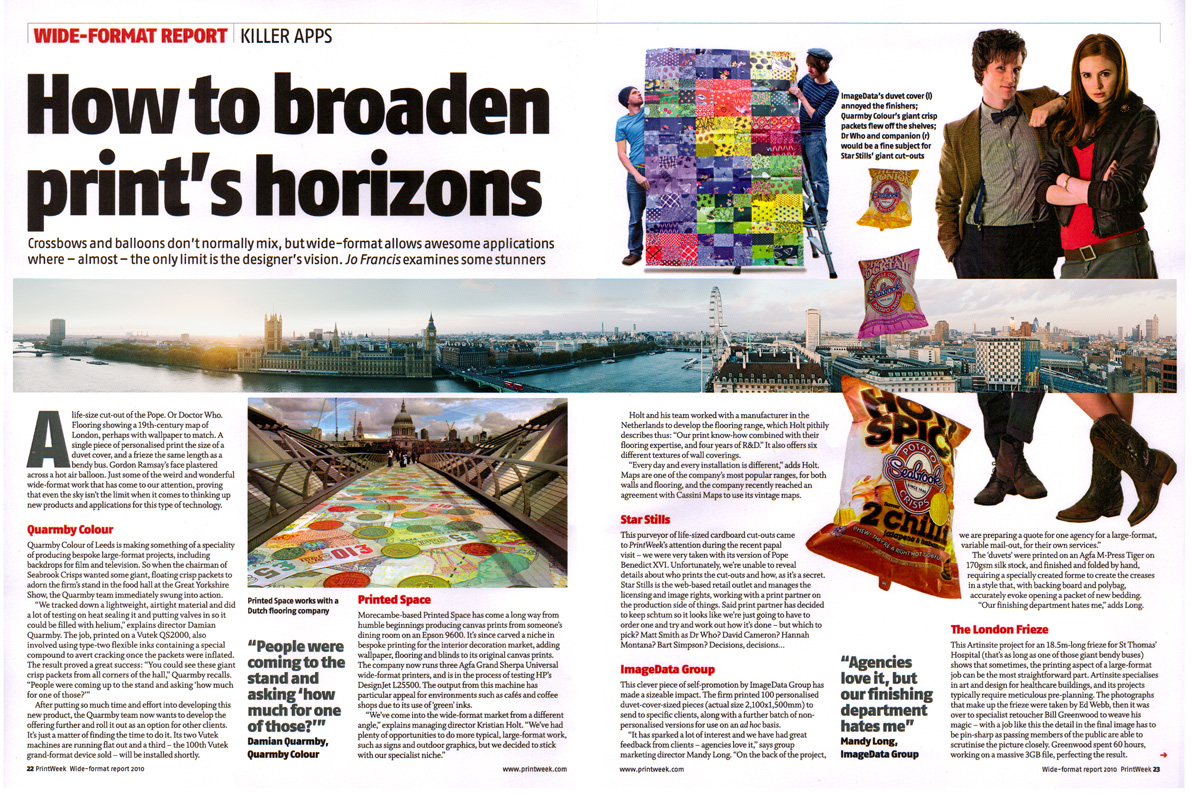 London Frieze Article - Printweek
